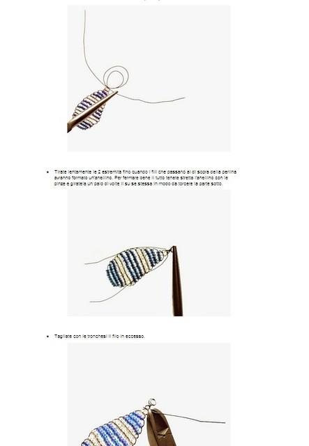 tutorial orecchini perline DOPO