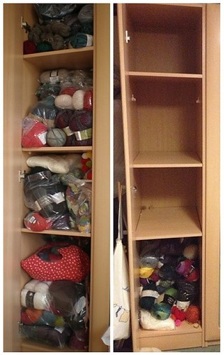 before and after wool closet
