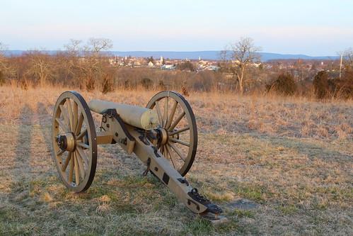 overlooking down town gettysburg