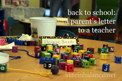 back to school: a parent's letter to a teacher