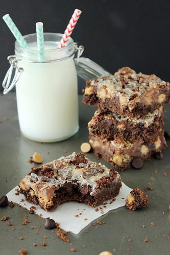 Peanut Butter Cake Bars Beyond Frosting
