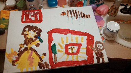 Lily painted the zoo
