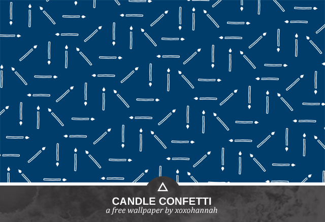 Candle Confetti Desktop Background Preview in Deep Ocean Blue