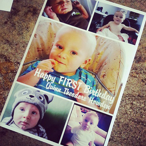 The third baby is forgotten when it comes to birthdays. ...too much othee stuff going on.  But I did make hom a poster and got him a cake and well have a little celebration tonight with grandma - that's as good as it gets.  Next year, ill do better.