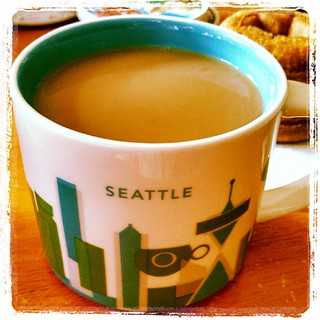 New #coffee #mug that I picked up during our all-nighter at the #Seattle airport