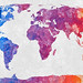 World Map - Abstract Acrylic by Free Grunge Textures - www.freestock.ca