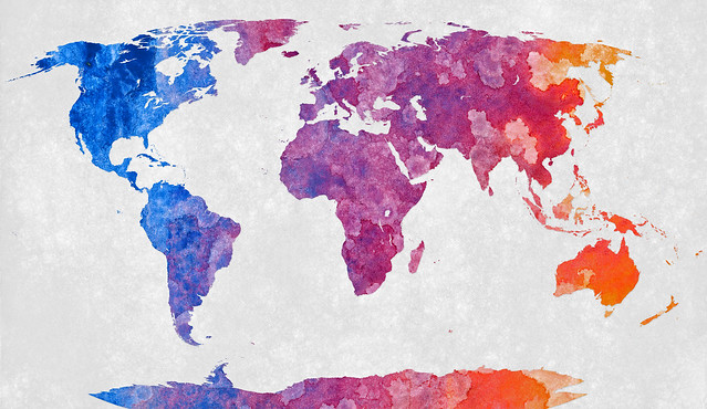 World Map - Abstract Acrylic from Flickr via Wylio