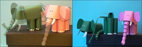 Elefant mit flexibelen Rüssel
