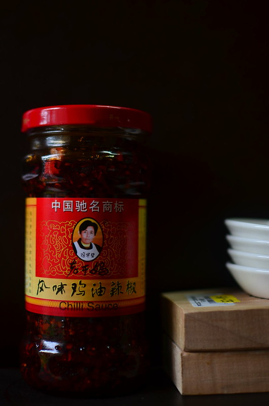 Chinese Chilli Sauce, mooncake paddles and small bowls