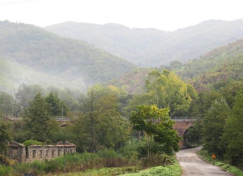 Landscape with ruin and bridge
