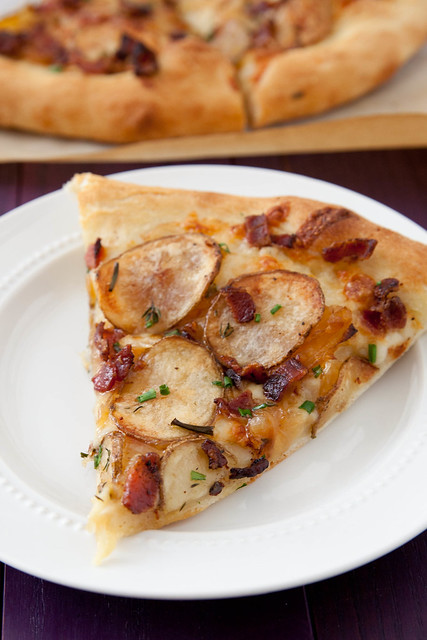 Bacon, Potato and Caramelized Onion Pizza