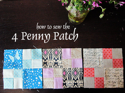 How to sew the 4 Penny Patch
