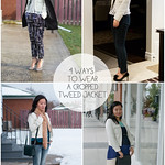 4 ways to wear tweed blazer