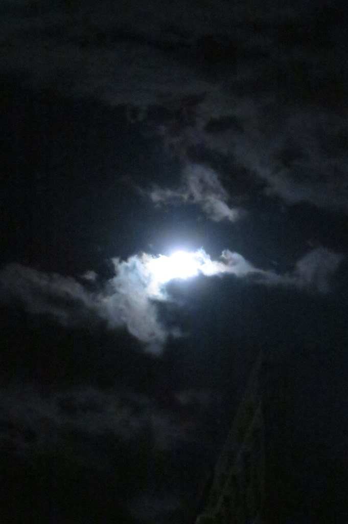 Night clouds & moon