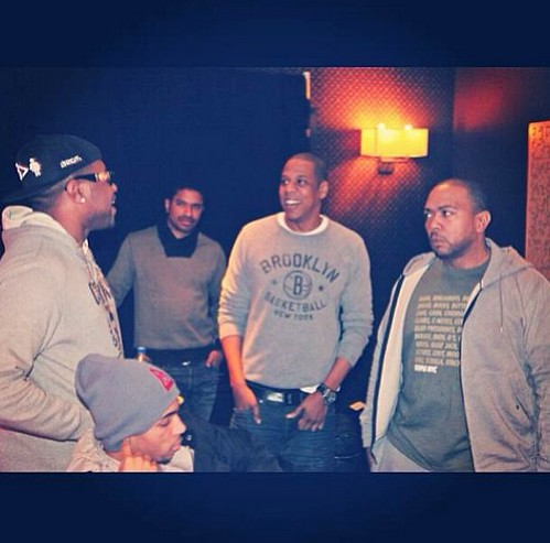 Jay-Z Brooklyn Nets Gray Crew Neck Sweatshirt