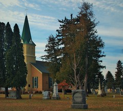 Rural church and cemetery