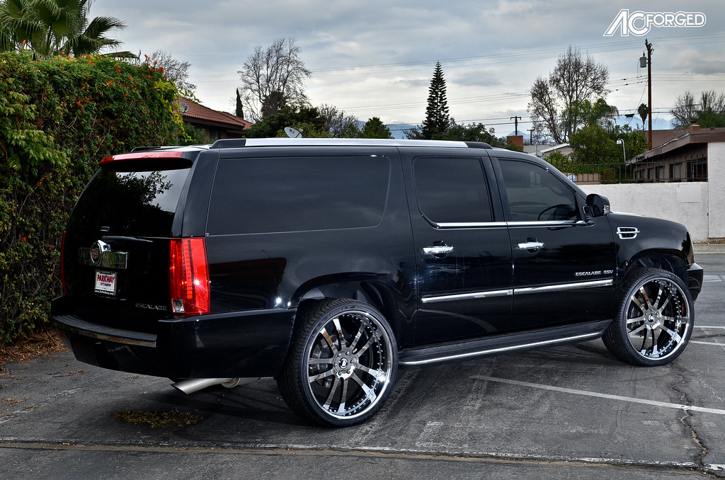 26 Quot Ac Forged 312 Chrome Black Windows On 2013 Cadillac