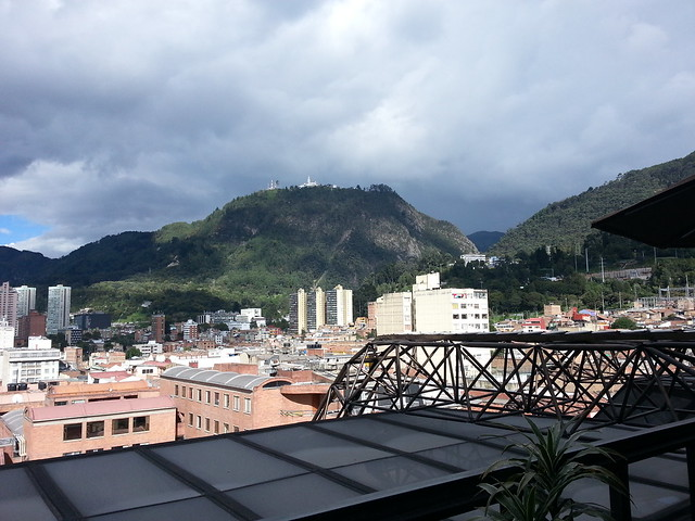 Mt. Monserrate from the game room window