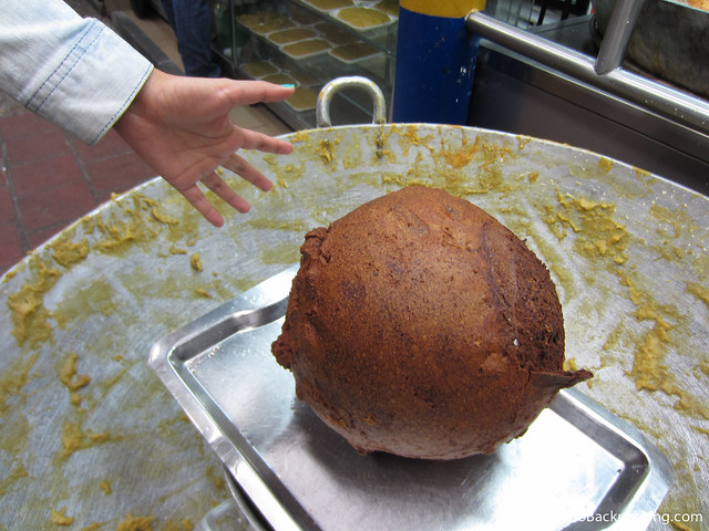 This 50,000 peso ($25) buñuelo is larger than the average person's head