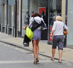 York City Centre - June 2013 - Candid - All Legs and Shopping
