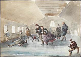 Quebec skating rink / Une patinoire à Québec