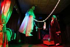 Jacob Marley and Ebenezer Scrooge