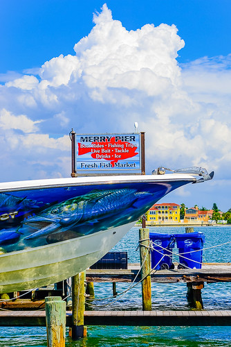 Merry Pier at Pass-A-Grille on St Pete Beach, Florida