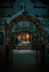 NATIVITY SCENE AT SACRED HEART CHURCH