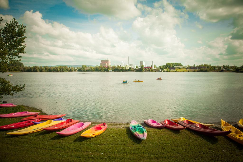Kayak et activités nautiques au réservoir Beaudet de Victoriaville