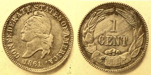 William Lee Confederate cent image