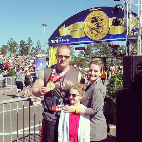 ER to finish line in under a week. He got his medal, now he gets a nap. #runDisney #wdwMarathon