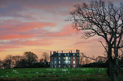 Hunterston House Sunset by g crawford