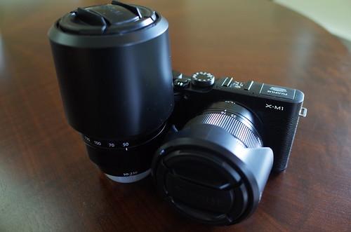 FUJIFILM X-M1 XC16-50mmF3.5-5.6 OIS, XC50-230mmF4.5-6.7 OIS kit