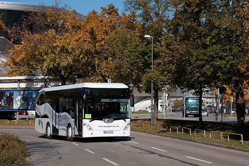 Der go4city-Bus erreicht in Kürze den Bahnhof Olympiazentrum