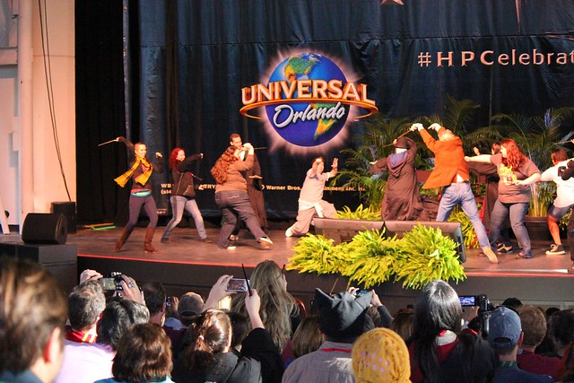 Harry Potter wand dueling demo at Universal Orlando