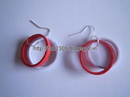 Handmade Jewelry - Paper Quilling Double Ring  Earrings (2) by fah2305