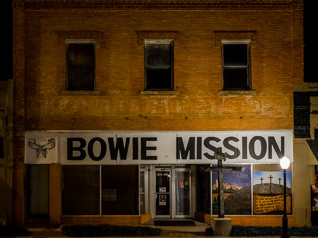 Bowie Mission by Night