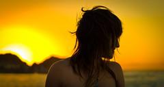 backlighting, yellow, sunlight, girl, woman, female, morning, beauty, sunset,