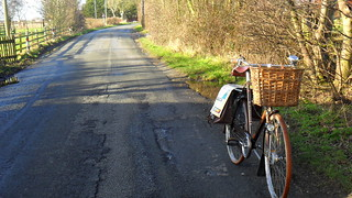 Imbolc ride, inaugural outing for Raven's new Schwinn