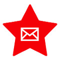 red star social media icon email