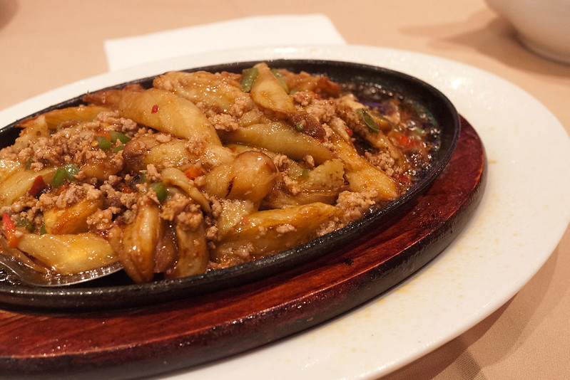 Eggplant & Minced Pork on Sizzling Plate (鐵板魚香茄子) @ Soluxe