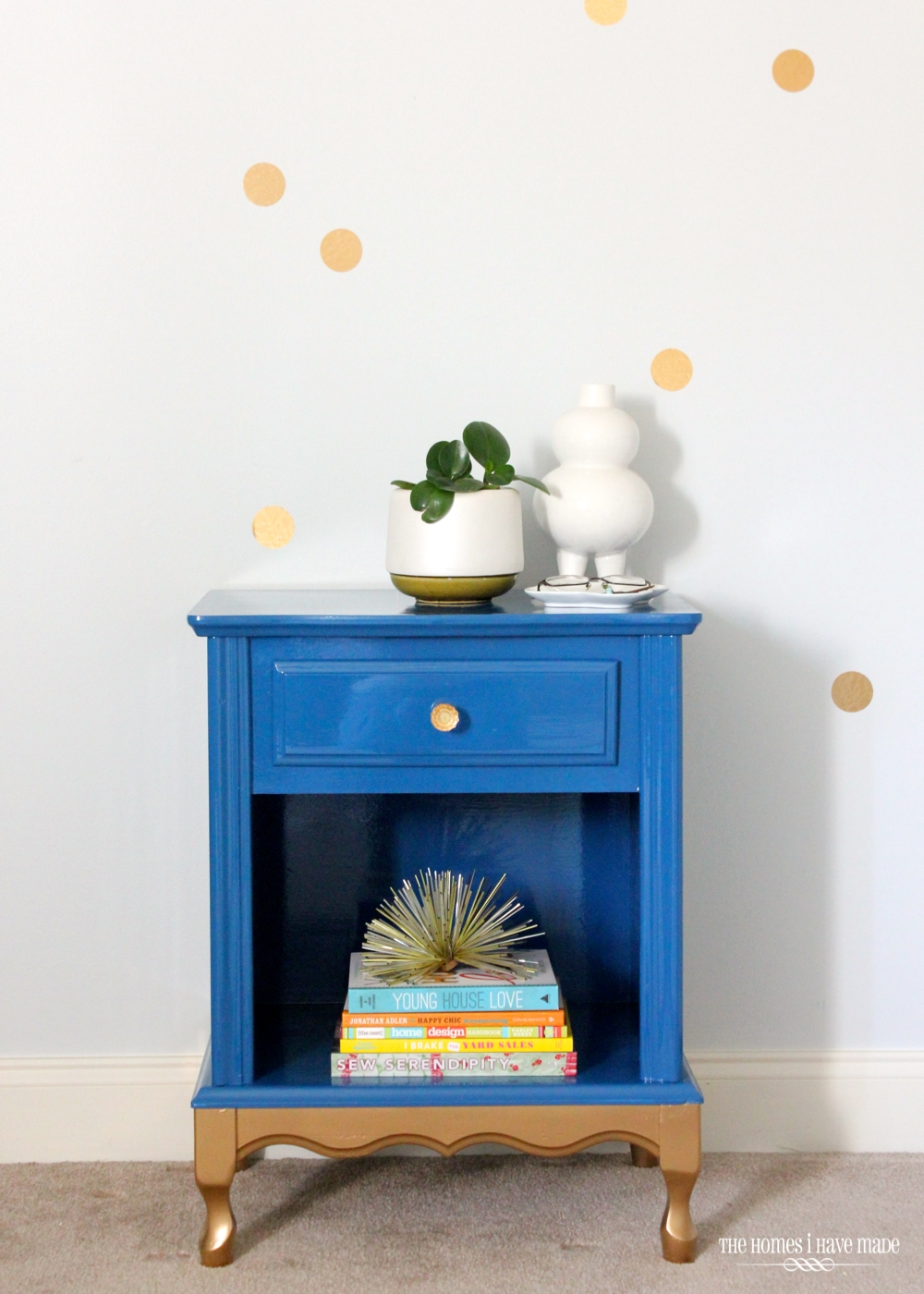 Blue and Gold Nightstand-009