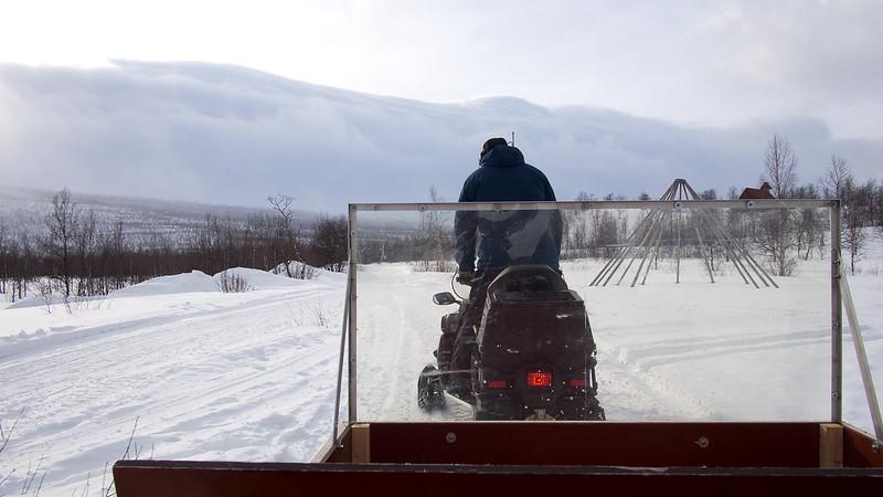 Schneemobil-Transport