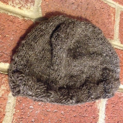 Handspun hat (natural BFL)