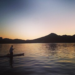 Nice paddle session at sunset in remote AZ. #az #paddlefit