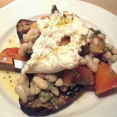 The heirloom tomato and Burrata salad @emberwoodfire words fail me as to how yummy this is!