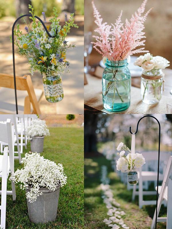 Decoración bodas: flores ceremonia