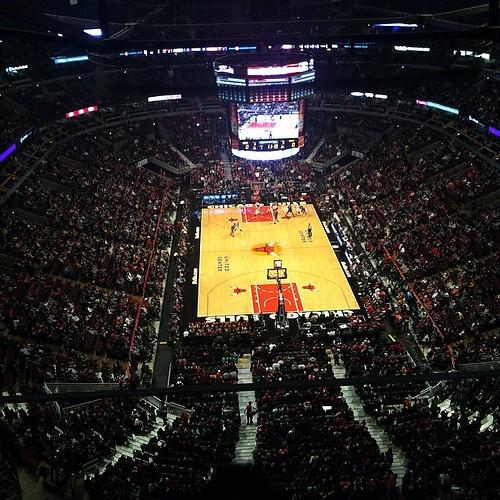 Good view! Bulls game.