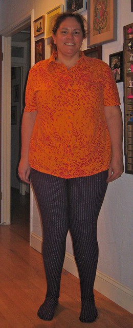 Burda shirt and Rose Hip Tights