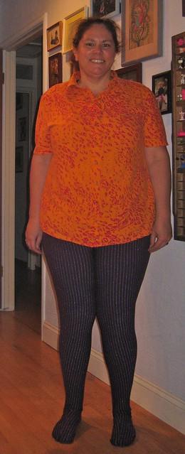 Burda shirt and Rose Hip Tights